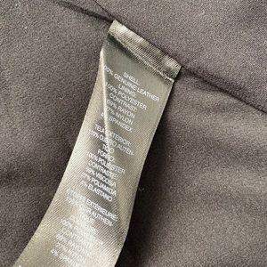 White House Black Market Jackets & Coats - WHBM Black Leather Peplum Jacket